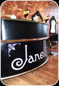 Reception Desk at Janelli hair and beauty salon in Falmouth Cornwall