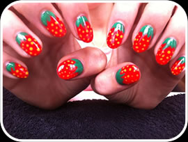 Strawberry Nails border